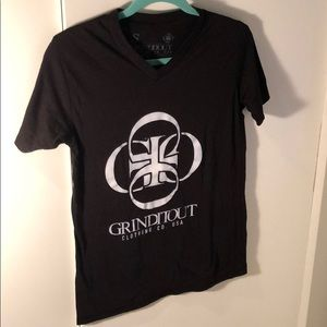 Grinditout Clothing Co. | Black V-Neck T-Shirt